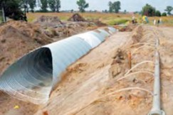 Corrugated culvert backfilling