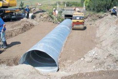 Corrugated culvert installation