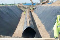 Corrugated culvert foundation