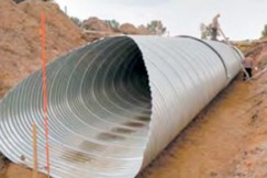Corrugated culvert laying