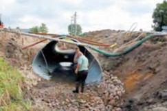 Corrugated culvert compaction